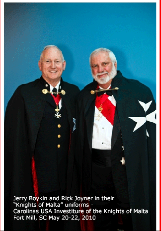 Jerry Boykin & Rick Joyner Knights of Malta